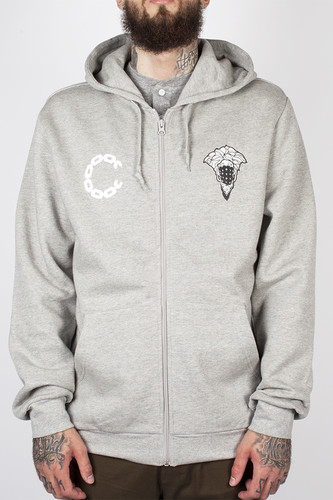 цена на Толстовка CROOKS & CASTLES Advisory Zip Hood (Heather Grey, L)