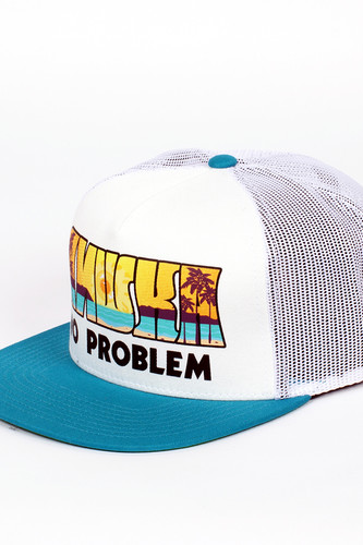 Бейсболка MISHKA No Problem Trucker Snapback (White, O/S)