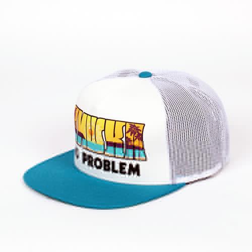 Бейсболка MISHKA No Problem Trucker Snapback (White, O/S) no self no problem