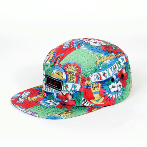 Бейсболка MISHKA Cycotropic 5 Panel (Red, O/S) бейсболка mishka chaifned 5 panel black o s