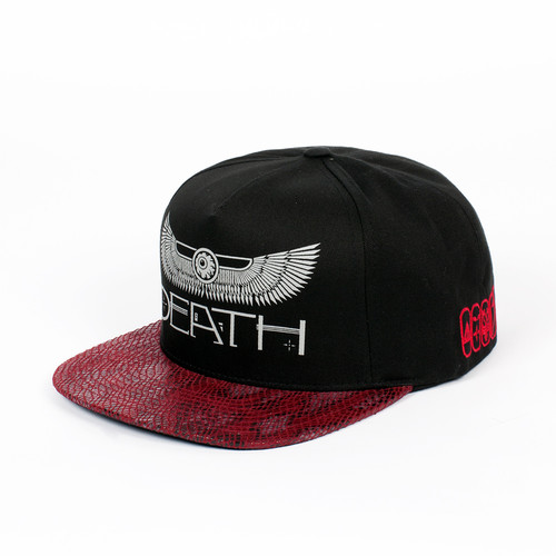 Бейсболка MISHKA Black Angel Of Death Snapback (Black, O/S) бейсболка mishka kill with power ne 5950 black 7 3 8