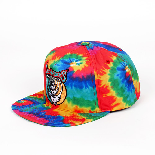 Бейсболка MISHKA Steal Your Soul Tie Dye Snapback (Rainbow Tie Dye, O/S) бейсболка mishka keep watch tie dye new era snapback lime blue tie dye o s