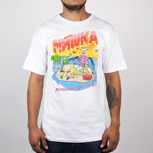 Футболка MISHKA Permanent Vacation Tee (White, L) футболка mishka davy jones locker white l