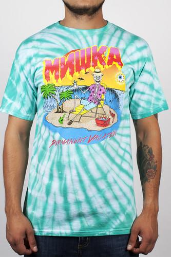 цена на Футболка MISHKA Permanent Vacation Tee TD (Teal Tie Dye, L)