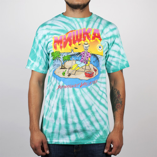 Футболка MISHKA Permanent Vacation Tee TD (Teal Tie Dye, L) pastel tie dye hoodie dress