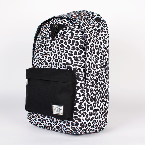 Рюкзак CAYLER & SONS Snow Leo Downtown Backpack (Snow-Leopard-Black-Black) black snow