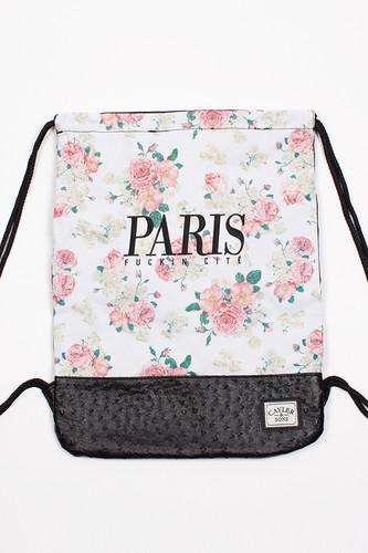 Сумка CAYLER & SONS Paris Cite Gym Bag (Floral Off-White/Black/Black Ostrich)