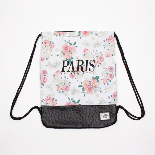 Сумка CAYLER & SONS Paris Cite Gym Bag (Floral Off-White/Black/Black Ostrich) майка cayler