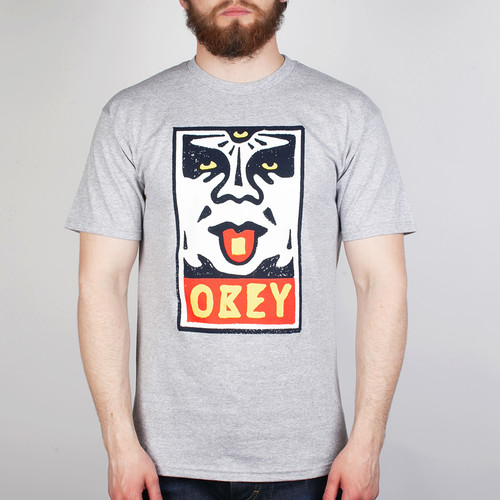 Футболка OBEY Mega Dose (Heather-Grey, XL) футболка obey youth crew black xl