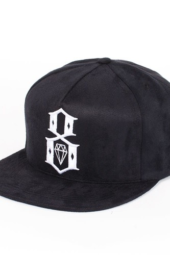 Бейсболка REBEL8 Suede Brim Logo Snap (Black, O/S)