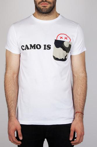 футболка ziq Футболка ZIQ & YONI Camo Is Dead (Белый, S)