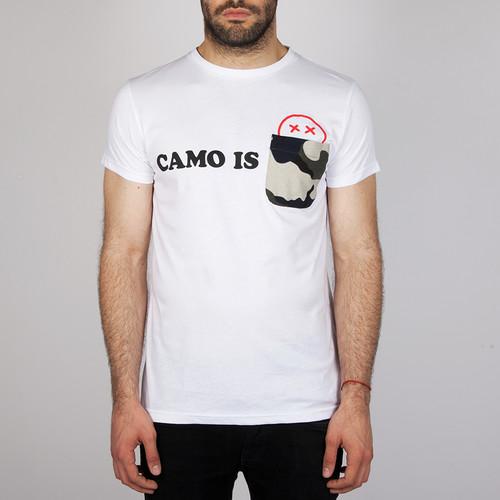 Футболка ZIQ & YONI Camo Is Dead (Белый, S) шапка ziq