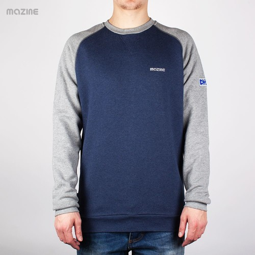 Толстовка MAZINE Male Basic Crewneck FW13 (Peacot-Mel-Grey-Mel, M) толстовка mazine male basic hoody fw13 black mel black xs