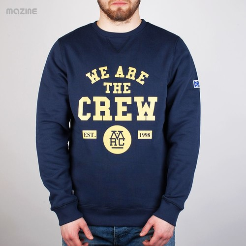 Толстовка MAZINE We Are The Crew Sweater (Navy, L) ветровка mazine sobral jacket navy pineneedle s