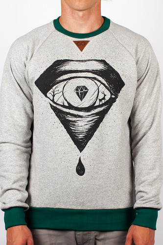 Толстовка MEDOOZA APPAREL Stone Eye (Grey-Melange, L) стоимость