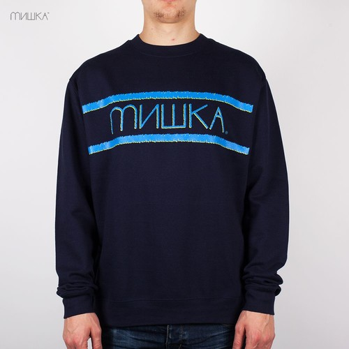 Толстовка МИШКА Distressed Heatseeker Crewneck (Navy, XL)