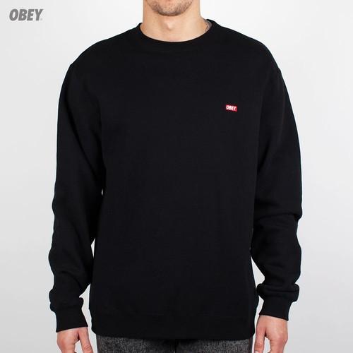Толстовка OBEY Bar Logo Crew (Black, XL) футболка obey youth crew black xl