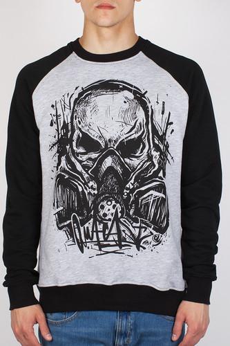 Толстовка OUTCAST Skull-Mask (Меланж-Черный, L)