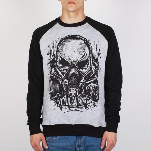 Толстовка OUTCAST Skull-Mask (Меланж-Черный, L) цена в Москве и Питере