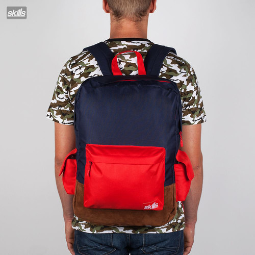 Рюкзак SKILLS Day Pack №1 (Brown-Navy) рюкзак skills small backpack black navy