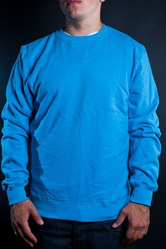 Толстовка URBAN CLASSICS Slim Crewneck Melange (Turquoise, L)