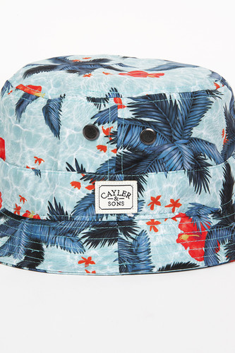 Панама CAYLER & SONS Palms Bucket Hat (Aqua-Palms, L/XL)
