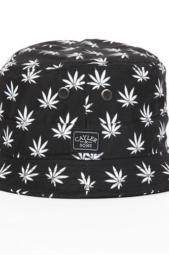Панама CAYLER & SONS Budz 'n Stripes Bucket Hat (Black-White, S/M)