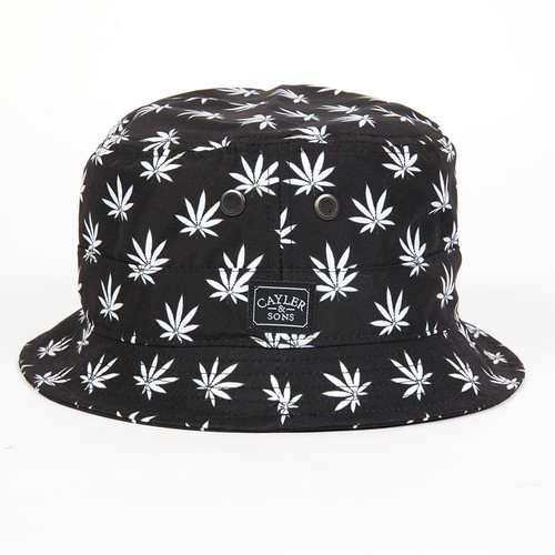 Панама CAYLER & SONS Budz 'n Stripes Bucket Hat (Black-White, S/M) панама мишка sunset tie dye bucket hat sunset s m