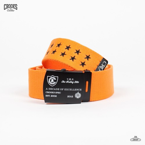 Ремень CROOKS & CASTLES Crooks Spec (Orange, O/S) цена