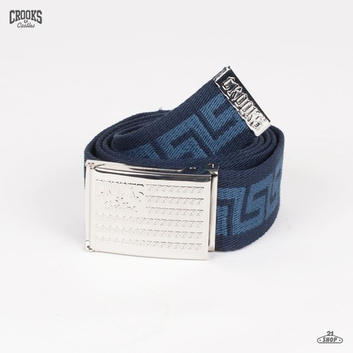 Ремень CROOKS & CASTLES I1311123 (Navy, O/S) цена