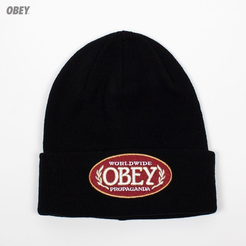 Шапка OBEY Smoke Beanie (Black) шапка obey ruger beanie obn134 heather indigo