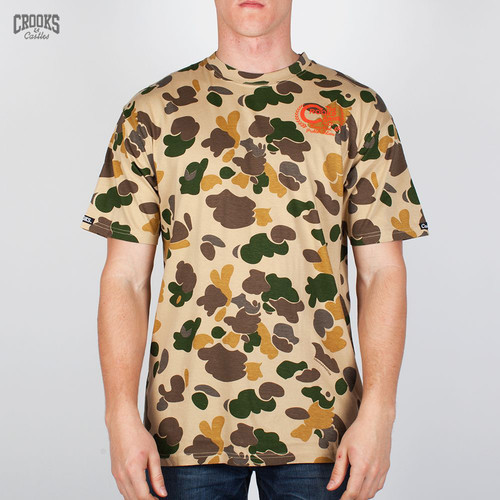Футболка CROOKS & CASTLES I1370721 (Tan-Camo, L)