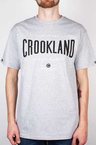 Футболка CROOKS & CASTLES I1410719-2 Crookland (Heather-Grey, S) футболка carhartt wip i022095 grey heather navy