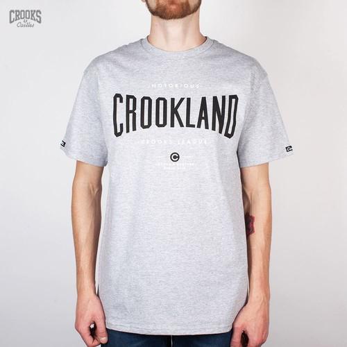 купить Футболка CROOKS & CASTLES I1410719-2 Crookland (Heather-Grey, S) по цене 360 рублей