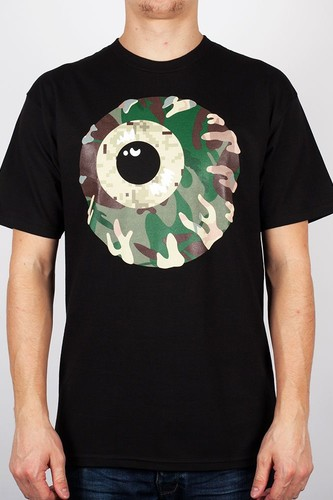 Футболка МИШКА Camo Keep Watch T-Shirt (Black, S) толстовка mishka kirby camo keep watch pullover hoodie black m