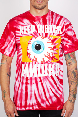 Футболка MISHKA From The Ashes Tie-Dye Tee (Red-Tie-Dye, L)