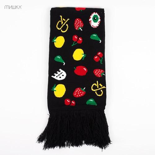 Шарф МИШКА Munchies Scarf (Black) showy flowers printed gossamer long scarf