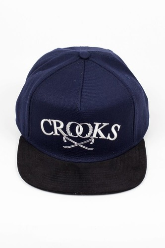Бейсболка CROOKS & CASTLES Luxe Crowbar (Dark-Navy-Black, O/S)