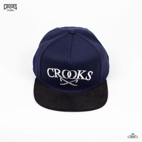 Бейсболка CROOKS & CASTLES Luxe Crowbar (Dark-Navy-Black, O/S) бейсболка crooks