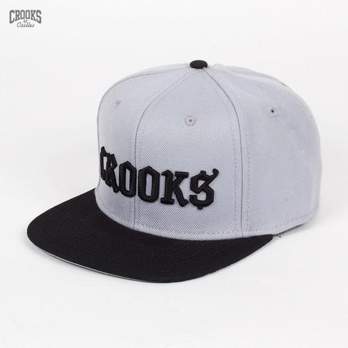 Бейсболка CROOKS & CASTLES I1310814 (Light-Grey-Black, O/S)