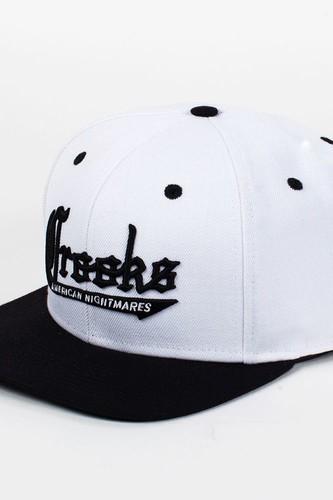 Бейсболка CROOKS & CASTLES I1360816 (White-Black, O/S) бейсболка anta anta mp002xu02j0x