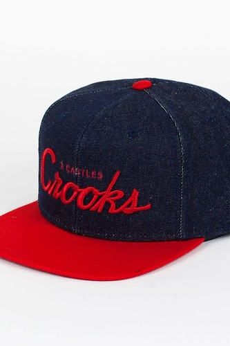 Бейсболка CROOKS & CASTLES I1370817 (Blue-Denim-True-Red, O/S) недорого