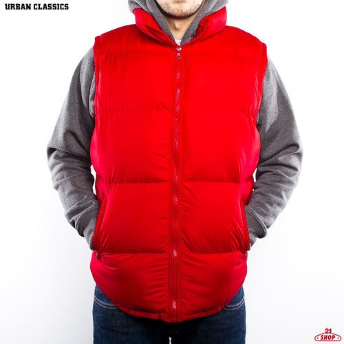 цена Жилет URBAN CLASSICS Basic Bubble Vest (Red, S) онлайн в 2017 году
