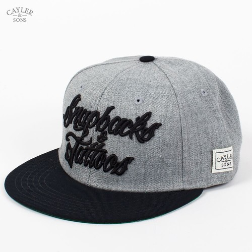 Бейсболка CAYLER & SONS Snapbacks&tattoos Cap (Grey-Heather-Black, O/S) бейсболка cayler