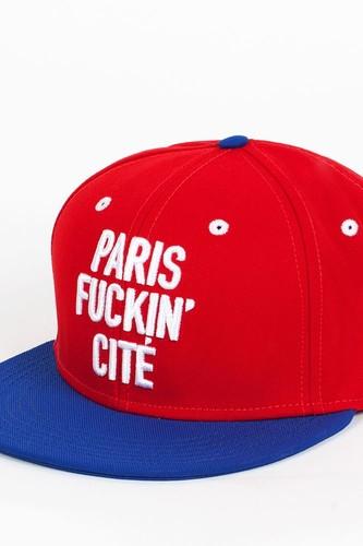 Бейсболка CAYLER & SONS Paris City Cap (Red-Royal-Blue-White, O/S)