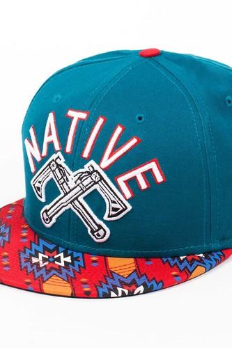 Бейсболка DJINNS 6P Snapback Nativ (Petrol-Red, O/S)