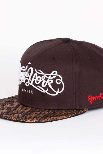 Бейсболка DJINNS A New York Minute 6 Panel Snapback (Brown, O/S) o s a сны