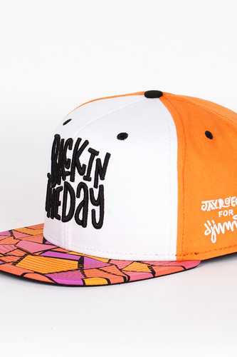 Фото - Бейсболка DJINNS Back In The Day 6 Panel Snapback (Orange-White, O/S) lace panel u back bodysuit