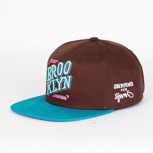 Бейсболка DJINNS Brooklyn At ? 6 Panel Snapback (Brown-Turquoise, O/S) бейсболка мишка biters starter sb turquoise o s