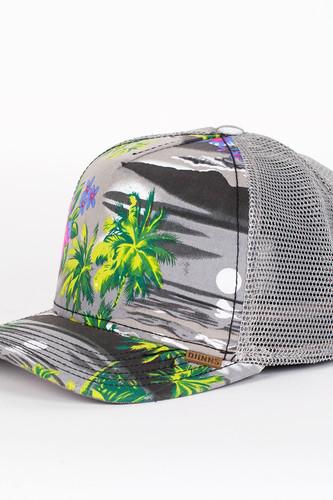 Бейсболка DJINNS Denim Aloha High Fitted T.cap (Grey, O/S)